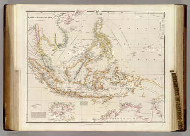 Asiatic Archipelago, By J. Arrowsmith. (with) inset map of the I. of Singapore. (Map) 34. London, Pubd. 15 Feby. 1842, by J. Arrowsmith, 10 Soho Square.