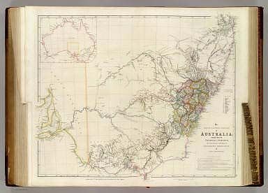The South Eastern Portion of Australia compiled from the Colonial Surveys, and from details furnished by Exploratory Expeditions, By J. Arrowsmith. (with) inset outline map of Australia. (Map) 35. London, Pubd. 2d. June 1842, by J. Arrowsmith, 10 Soho Square.