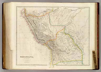 Peru & Bolivia, By J. Arrowsmith. (Map) 48. London, Pubd. 15 Feby. 1842, by J. Arrowsmith, 10 Soho Square.