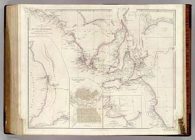 The Maritime Portion of South Australia, from Captn. Flinders & from more recent Surveys made by the Survr. Genl. of the Colonies By John Arrowsmith. (with) inset map of the Gulf of St. Vincent. (with) The City of Adelaide, with the Acre Allotments numbered. Surveyed by Col. Light. (with) Sketch of Nepean Bay, and Kingscote Harbour, by Wm. Chesser. (with) Sketch of Encounter Bay by Col. Light & B.T. Finniss Esqr. 1838. London, Published Feby. 5th 1840, by John Arrowsmith, 10 Soho Square.