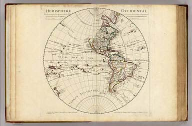Hemisphere Occidentale. / Lisle, Guillaume de, 1675-1726 / 1724