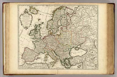 Carte d'Europe. / Lisle, Guillaume de, 1675-1726 / 1724