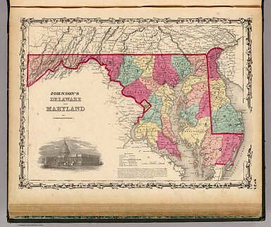 Delaware And Maryland. / Johnson, A.J. / 1860