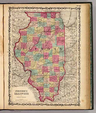 Illinois. / Johnson, A.J. / 1860