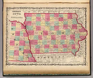 Iowa And Nebraska. / Johnson, A.J. / 1860