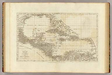 An index map to the following sixteen sheets, being a compleat chart of the West Indies, with letters in the margin to direct the placing the different sheets in their proper places. London, printed for Robt. Sayer, Map & Printseller, no. 53 in Fleet Street, as the Act directs 20th. Feby. 1775.