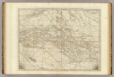 The Island of Cuba with part of the Bahama Banks & the Martyrs. By Thos. Jefferys, Geographer to his Majesty. London, printed for Robt. Sayer, Map & Printseller, no. 53 in Fleet Street, as the Act directs 20 Feby. 1775.