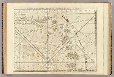 The Caribbee Islands, the Virgin Islands, and the Isle of Porto Rico. By Thomas Jefferys, Geographer to His Majesty. London, printed for Robt. Sayer, Map and Printseller, no. 53 in Fleet Street, as the Act directs, 20 Feby. 1775.