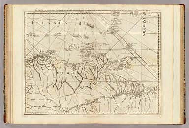 The coast of Caracas, Cumana, Parla and the mouths of Rio Orinoco, with the islands of Trinidad, Margarita, Tobago, Granada, St. Vincent &ca. By Thos. Jefferys, Geographer to His Majesty. London, printed for Robt. Sayer, Map & Printseller, no. 53 Fleet Street, as the Act directs, 20th. Feby. 1775.