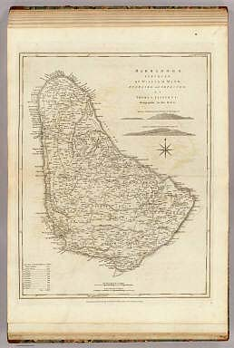 Barbadoes, surveyed by William Mayo, engraved and improved by Thomas Jefferys, Geographer to the Kind. London, printed for Robt. Sayer, Map & Printseller, no. 53 in Fleet Street as the Act directs 20 Feby 1775.
