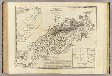 Tobago from actual surveys and observations, by Thomas Jefferys, Geographer to the King. London, printed for Robt. Sayer, Map and Printseller, no. 53 in Fleet Street, as the Act directs, 20 Feby. 1775.