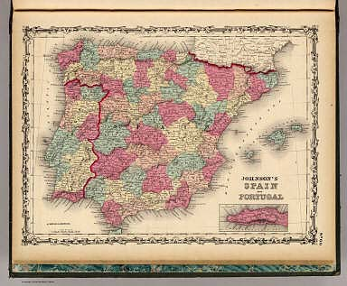 Spain and Portugal. / Johnson, A.J. / 1860