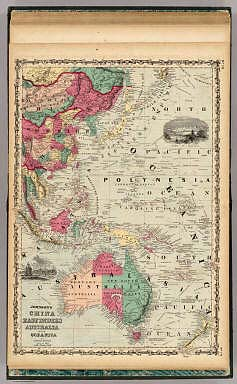China East Indies Australia And Oceanica. / Johnson, A.J. / 1860