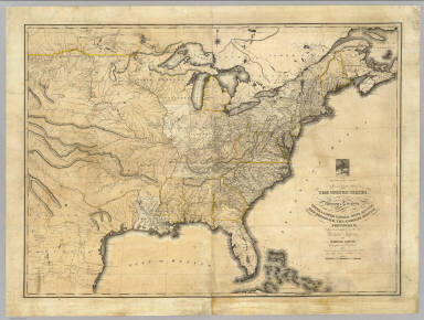 New And Correct Map Of The United States Upper Lower Canada - Us map 1819