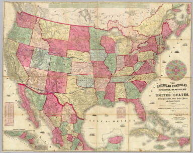 American Continent United States British Possessons West Indies - Us-map-1864