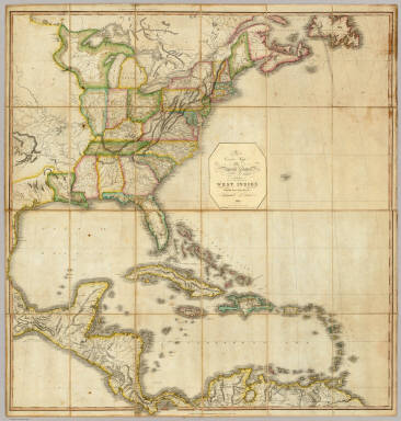 A Correct Map of the United States. / Lewis, Samuel / 1817