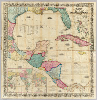 Monk's new map of Central America, Cuba, Florida &c. Monk, Jacob, 1857