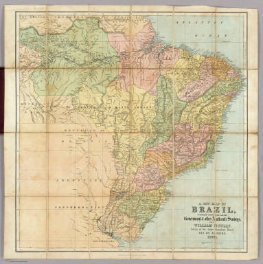 A new map of Brazil compiled from the latest government & other authentic sources, for William Scully, Editor of the Anglo Brazilian Times, Rio de Janeiro, 1866. Published By William Scully, Rio de Janeiro. Drawn & engraved by George Philip & Son, Liverpool & London.