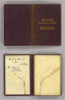(Covers to) A new map of Brazil compiled from the latest government & other authentic sources, for William Scully, Editor of the Anglo Brazilian Times, Rio de Janeiro, 1866. Published By William Scully, Rio de Janeiro. Drawn & engraved by George Philip & Son, Liverpool & London.