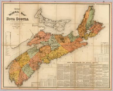 Church's mineral map of Nova Scotia. Shewing by symbols the outcrop of the known coal seams, gold-bearing quartz-veins and ore-beds, containing mineral of economic value and importance. Published by A.F. Church & Co., Bedford, Halifax County. [Entered ... 1889, by Ambrose F. Church, of Bedford, Nova Scotia, at the Department of Agriculture.] Canada Bank Note Co. Lim., Photo-Lith., Montreal.