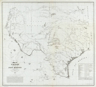 Of Texas And Part Of New Mexico US War Department - Us map new mexico