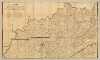 Military Map of the States of Kentucky and Tennessee. / Swann, Charles E. / 1863