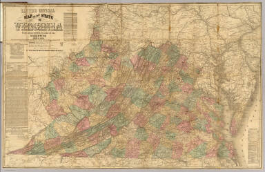 Lloyd S Official Map Of The State Of Virginia Lloyd J T 1862
