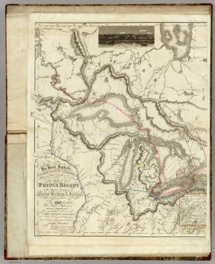 (West sheet) Map of the Provinces of Upper & Lower Canada with parts of the United States of America &c. / Bouchette, Joseph ; Faden, William / 1815