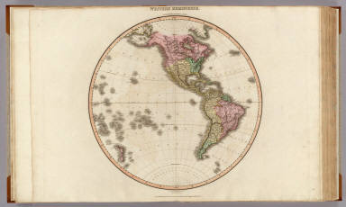 Western Hemisphere. Drawn under the direction of Mr. Pinkerton by L. Hebert. Neele sculpt. 352 Strand. London: published 1st. April 1812 by Cadell & Davies, Strand & Longman, Hurst, Rees, Orme, & Brown, Pater Noster Row.