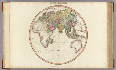 Eastern Hemisphere. Drawn under the direction of Mr. Pinkerton by L. Hebert. Neele sculpt. 352 Strand. London: published Feby. 1st. 1812 by Cadell & Davies, Strand & Longman, Hurst, Rees, Orme, & Brown, Paternoster Row.