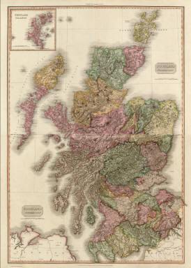(Composite of) Scotland. (with inset map) Shetland Islands. Drawn under the direction of Mr. Pinkerton by L. Hebert. Neele sculpt. 352 Strand. London: published ... 1811-1812 by Cadell & Davies, Strand & Longman, Hurst, Rees, Orme, & Brown, Paternoster Row.