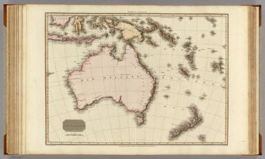 Australasia. Drawn under the direction of Mr. Pinkerton by L. Hebert. Neele sculpt. 352 Strand. London: published April 15th. 1813, by Cadell & Davies, Strand & Longman, Hurst, Rees, Orme, & Brown, Paternoster Row.