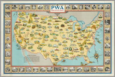 PWA rebuilds the Nation. / Purdy, Earl  ; United States. Public Works Administration. Division of Information / 1935