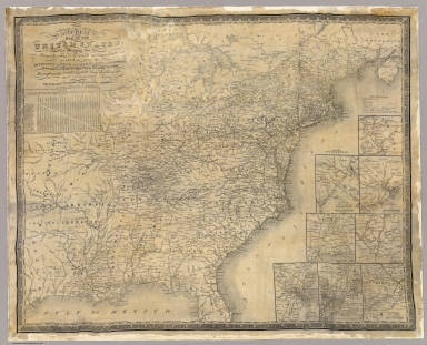 Mitchell's map of the United States. / Mitchell, Samuel Augustus / 1835