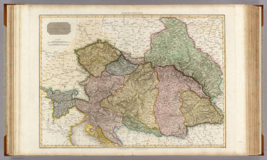 Austrian Dominions. Drawn under the direction of Mr. Pinkerton by L. Hebert. Neele sculpt. 352 Strand. London: published 1st. November, 1810, by Cadell & Davies, Strand & Longman, Hurst, Rees, Orme, & Brown, Paternoster Row.