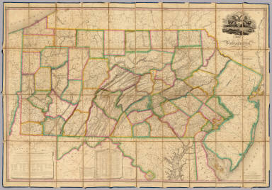 Map Of Pennsylvania. / Melish, John / 1826