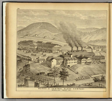 Works of Central Glass Company, Wheeling, West Va. / Hayes, Eli L. / 1877