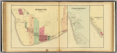 Syracuse ... (with) Carletonville, Antiquity, Meigs Co., O. / Hayes, Eli L. / 1877