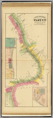 Upper Ohio River and Valley part XVI, 272 to 293 miles below Pittsburgh ... (with) Bladensburg, Chambersburg, Crown City, Gallia Co. O. / Hayes, Eli L. / 1877