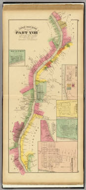 Upper Ohio River and Valley part XVII, 312 to 328 miles below Pittsburgh ... (with) South Point, Ohio, Russell, Arigo City, Sandy City, Hampton City, Ky. ... / Hayes, Eli L. / 1877