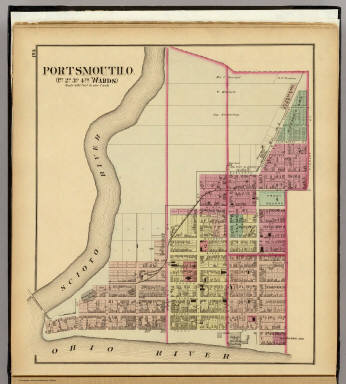 Portsmouth, O., 1st, 2d, 3d, 4th wards. / Hayes, Eli L. / 1877