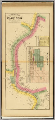Upper Ohio River and Valley part XXII, 382 to 400 miles below Pittsburgh ...  (with) Manchester, Wrightsville, O. / Hayes, Eli L. / 1877