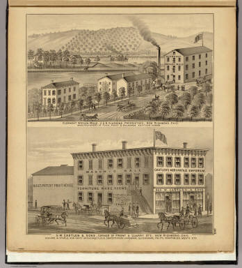 Clermont Woolen Mills ... (with) G.W. Castlen & Sons, New Richmond, Ohio. / Hayes, Eli L. / 1877