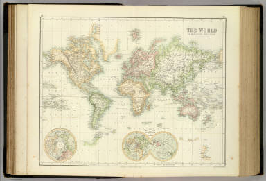 World On Mercator's Projection. / Fullarton, A. & Co. / 1872