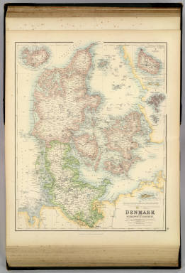 Denmark with Schleswig & Holstein. / Fullarton, A. & Co. / 1872