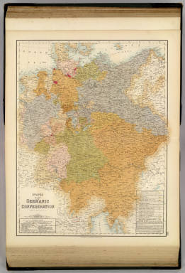 States of the Late Germanic Confederation. / Fullarton, A. & Co. / 1872