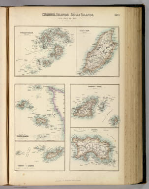 Channel Islands, Scilly Islands, and Isle of Man. / Fullarton, A. & Co. / 1872