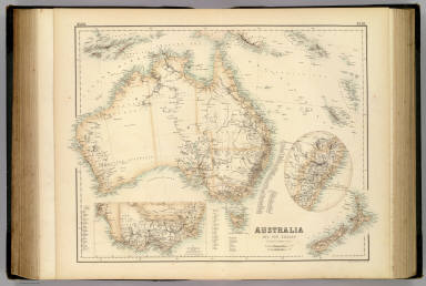 Australia and New Zealand By Augustus Petermann. F.R.G.S. (with) I. The Prinicipal Portions of New South Wales and II. Victoria and the Adjoining Regions. XLIII. Engd. by G.H. Swanston Edinburgh. A. Fullarton & Co. Edinburgh, London & Dublin.