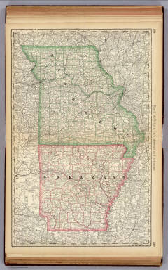 Missouri and Arkansas. / Rand McNally and Company / 1879