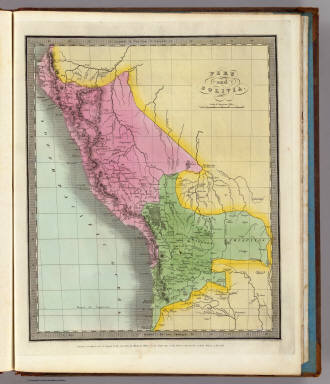 Peru and Bolivia. Engrd & Prd by Illman & Pilbrow. Entered ... 1833 by Illman & Pilbrow ... New York.